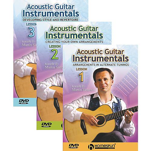 Homespun Acoustic Guitar Instrumentals 3 DVD Set