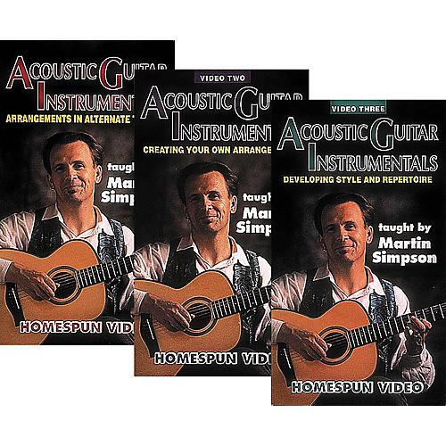 Homespun Acoustic Guitar Instrumentals 3-Video Set (VHS)
