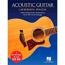 Open Box Hal Leonard Acoustic Guitar Lesson Pack - Boxed Set with Four Books & One DVD
