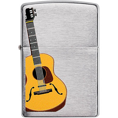 Zippo Acoustic Guitar Lighter - Brushed Chrome