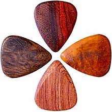 Timber Tones Acoustic Guitar Picks, 4-Pack