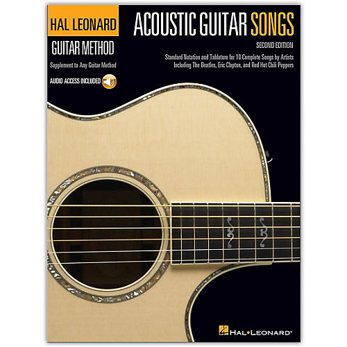 Hal Leonard Acoustic Guitar Songs - 2nd Edition Guitar Method Series Softcover Audio Online Performed by Various