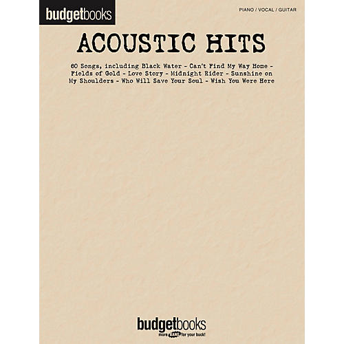 Hal Leonard Acoustic Hits - Budget Book