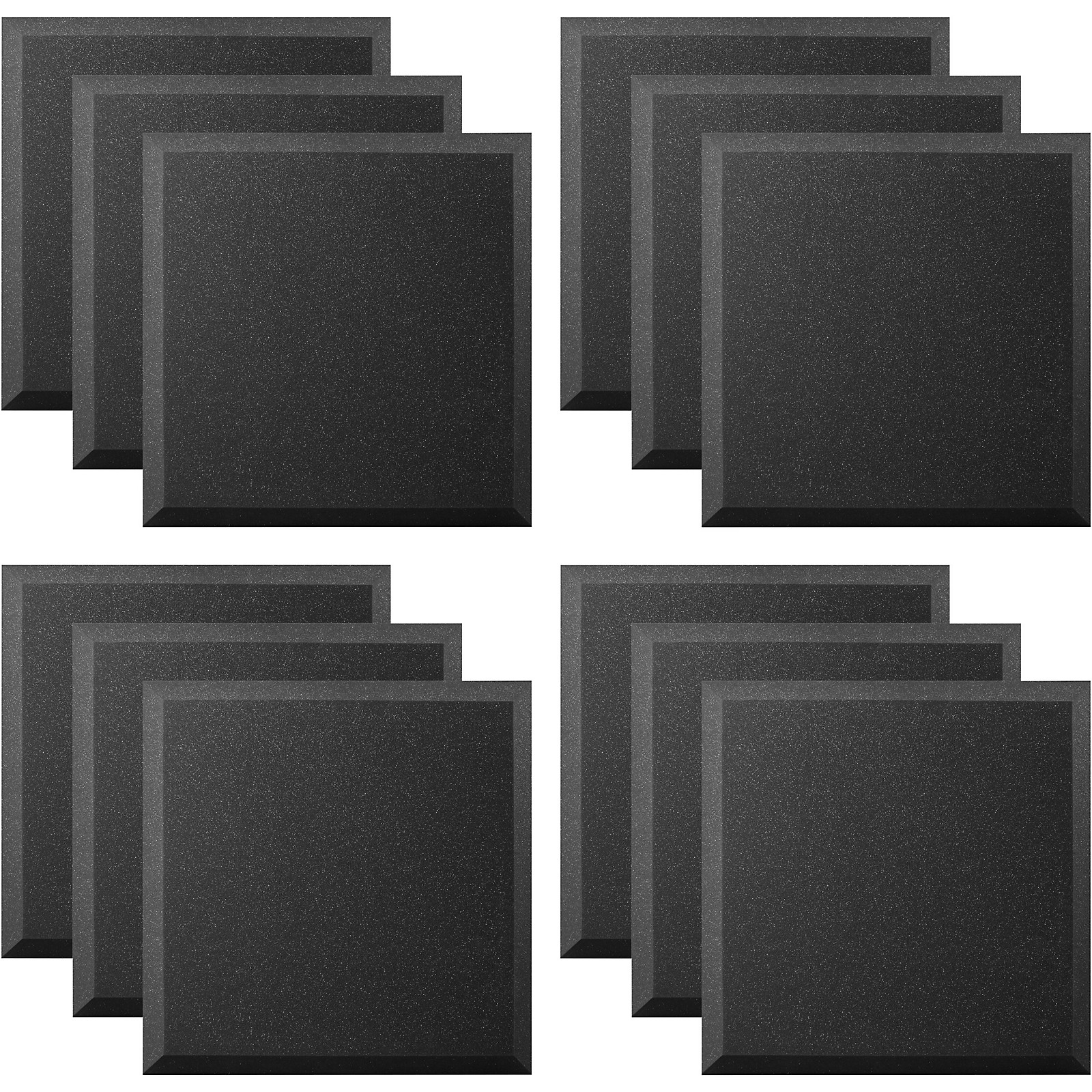 Ultimate Acoustics Acoustic Panel - 24x24x2 Bevel (12 Pack)