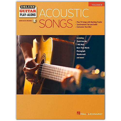Hal Leonard Acoustic Songs Deluxe Guitar Play-Along Volume 3 Book/Audio Online