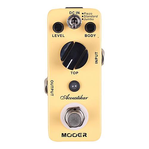 mooer acoustikar acoustic guitar simulator effects pedal musician 39 s friend. Black Bedroom Furniture Sets. Home Design Ideas