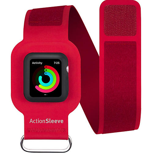 Twelve South ActionSleeve Carrying Case (Armband) for SmartWatch - Red - Nick Resistant Interior, Ding Resistant Interior - Leather, Silicone - Armband