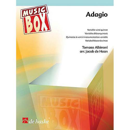 De Haske Music Adagio (Music Box Variable Wind Quintet) Concert Band Level 3 Arranged by Jacob de Haan