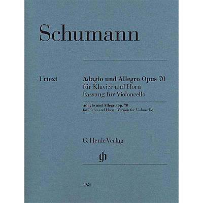 G. Henle Verlag Adagio and Allegro, Op. 70 Henle Music Composed by Robert Schumann Edited by Ernst Herttrich