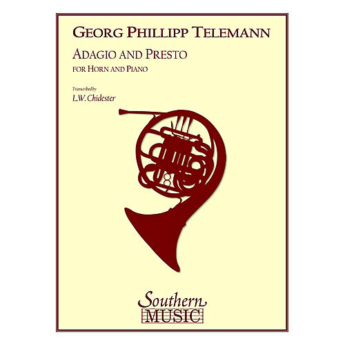 Southern Adagio and Presto Southern Music Series Composed by Georg Philipp Telemann Arranged by L.W. Chidester