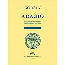 Editio Musica Budapest Adagio for Double Bass and Piano - New Edition by Zoltán Kodály Arranged by Norbert Duka