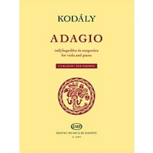 Editio Musica Budapest Adagio for Viola and Piano - New Edition EMB Series Softcover
