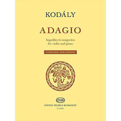 Editio Musica Budapest Adagio for Violin and Piano (New Edition) EMB Series Softcover