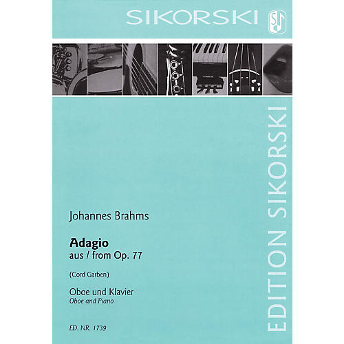 Sikorski Adagio from Op 77 (Oboe and Piano) Woodwind Series