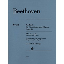 G. Henle Verlag Adelaide, Op. 46 Henle Music Folios Softcover  by Ludwig van Beethoven Edited by Helga Luhning