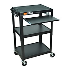 H. Wilson Adjustable Height Cart with Keyboard Tray