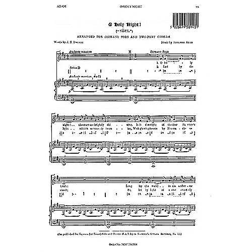Music Sales Adolphe Adam: O Holy Night (Soprano Solo) Music Sales America Series