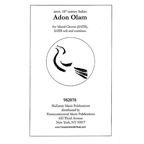 Transcontinental Music Adon Olam SATB arranged by Joshua Jacobson