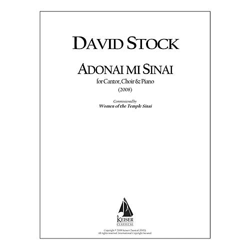 Lauren Keiser Music Publishing Adonai Mi Sinai for Cantor, SATB Chorus and Piano LKM Music Series by David Stock
