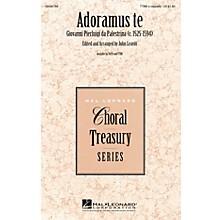 Hal Leonard Adoramus Te TTBB A Cappella composed by Giovanni Pierluigi da Palestrina