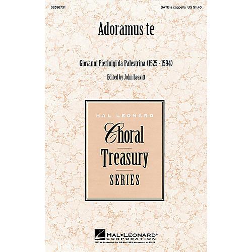 Hal Leonard Adoramus te SATB a cappella arranged by John Leavitt