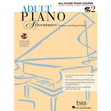 Faber Piano Adventures Adult Piano Adventures All-in-One Lesson Book 2 - Book with CD, DVD and Online Support
