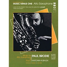 Music Minus One Advanced Alto Saxophone Solos - Volume 3 Music Minus One Series Book with CD  by Various