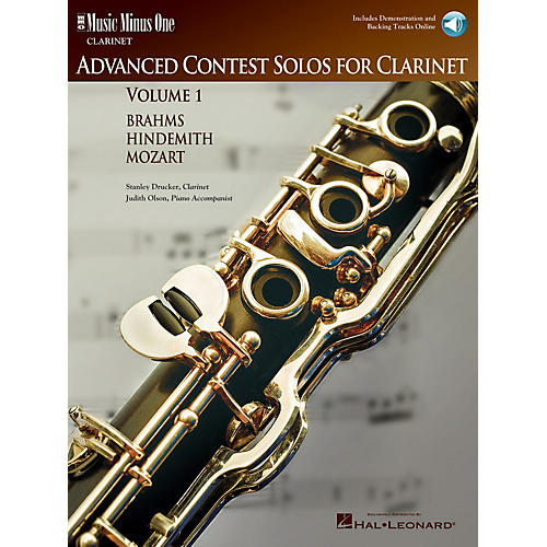 Music Minus One Advanced Clarinet Solos - Volume I Music Minus One Series BK/CD Performed by Stanley Drucker