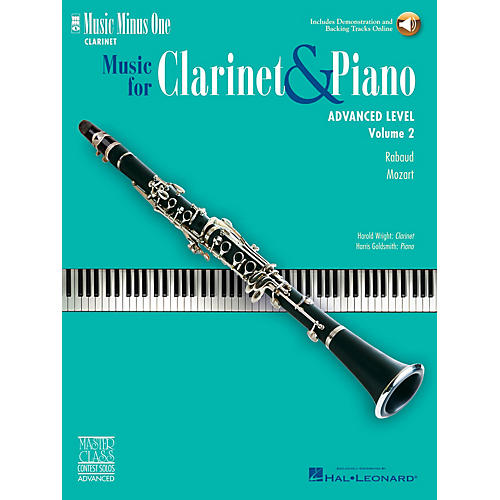 Music Minus One Advanced Clarinet Solos - Volume II Music Minus One Series BK/CD Performed by Harold Wright