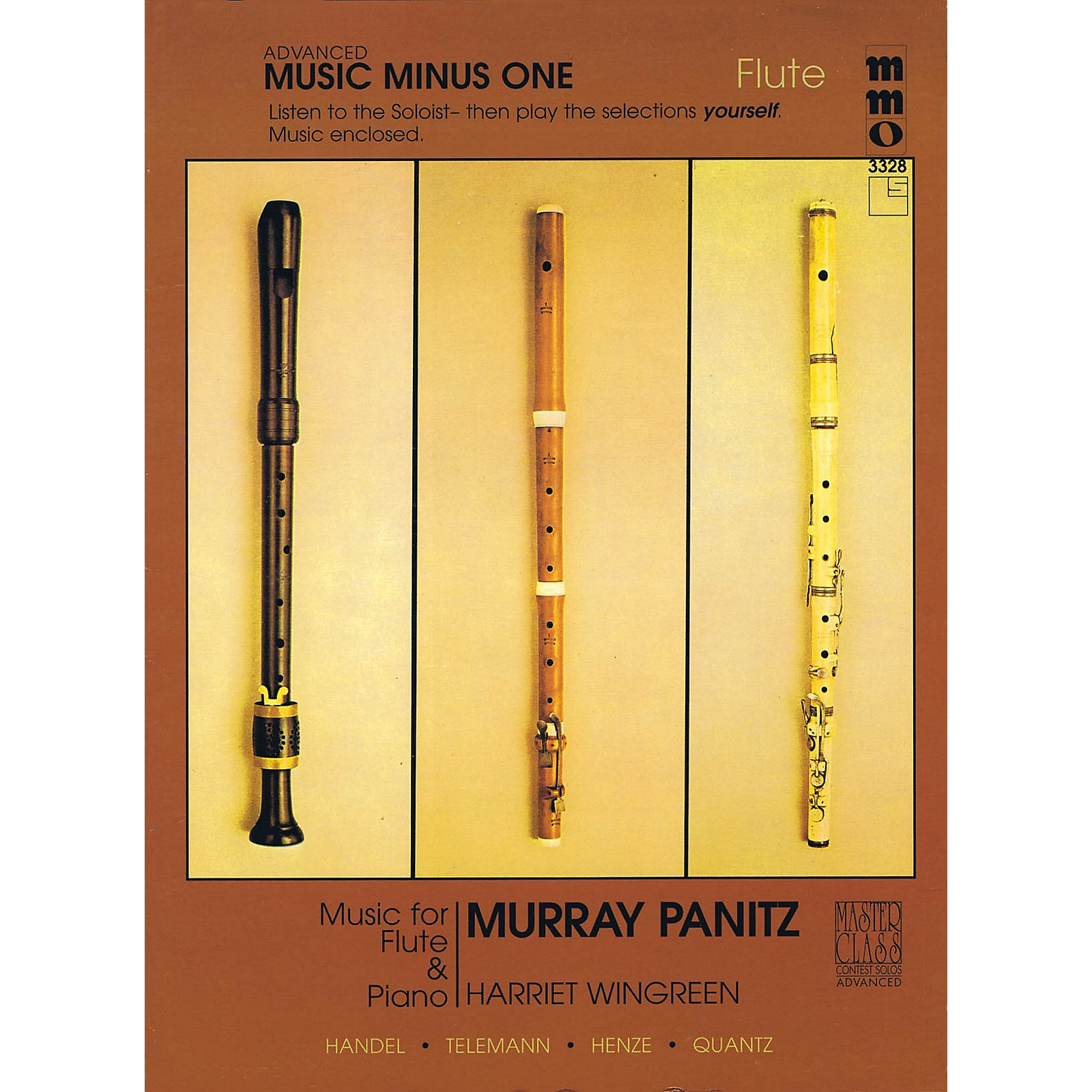 Music Minus One Advanced Flute Solos - Volume 3 Music Minus One Series Softcover with CD Performed by Murray Panitz