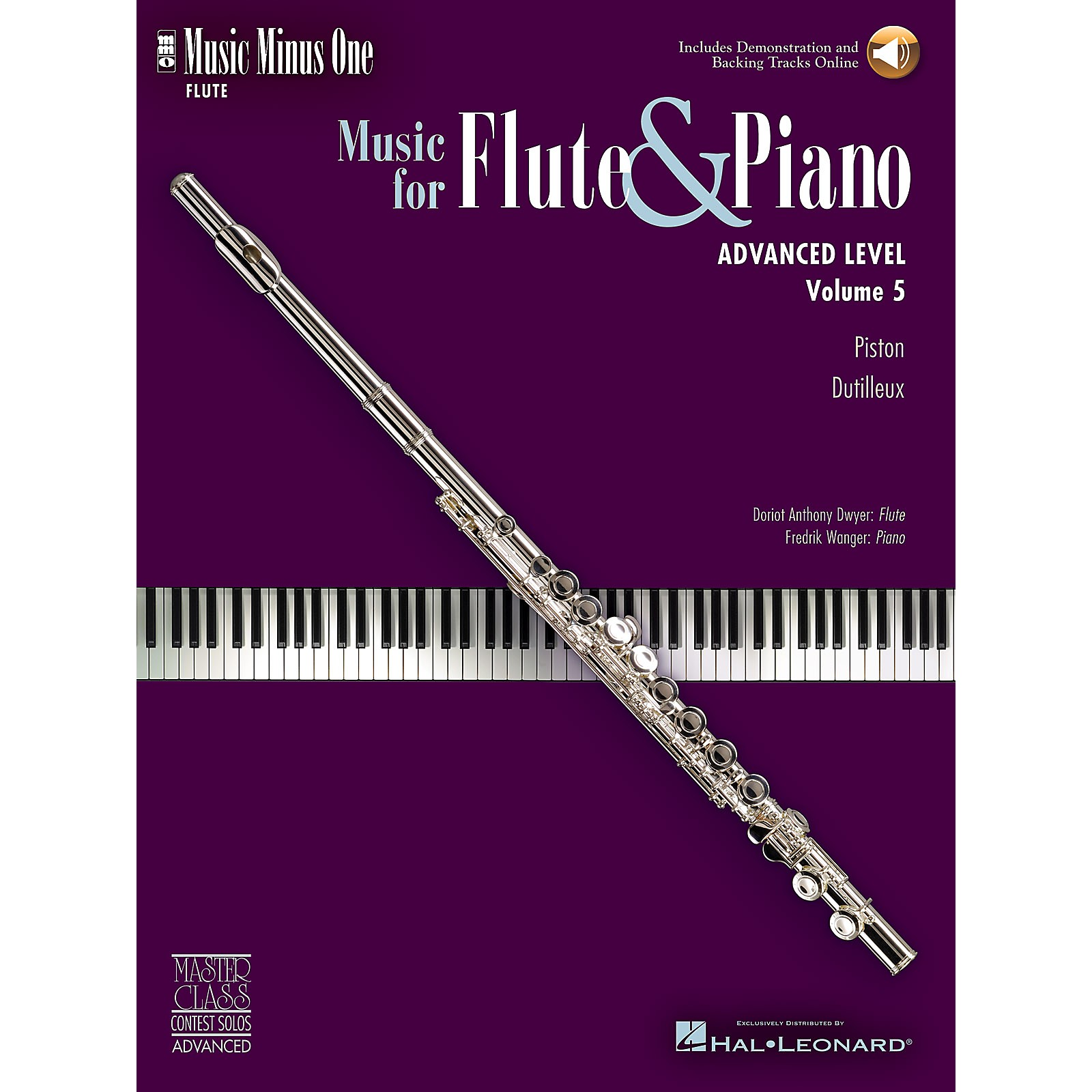 Music Minus One Advanced Flute Solos - Volume 5 Music Minus One Series Softcover with CD
