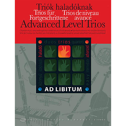 Editio Musica Budapest Advanced Level Trios EMB Series by Various Arranged by András Soós