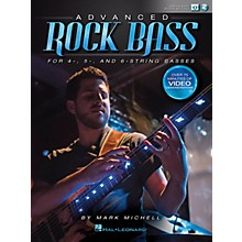 Hal Leonard Advanced Rock Bass Bass Instruction Series Softcover Media Online Written by Mark Michell