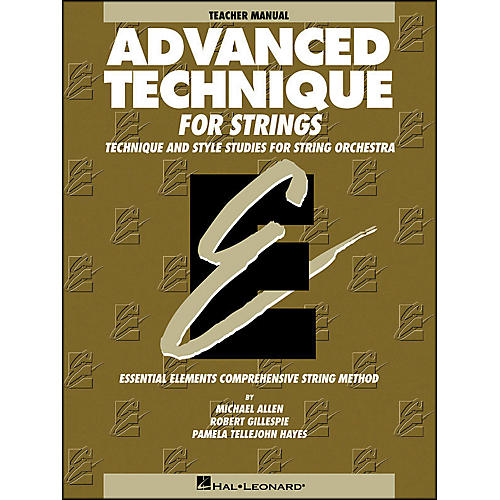 Hal Leonard Advanced Technique Teacher's Manual for Strings