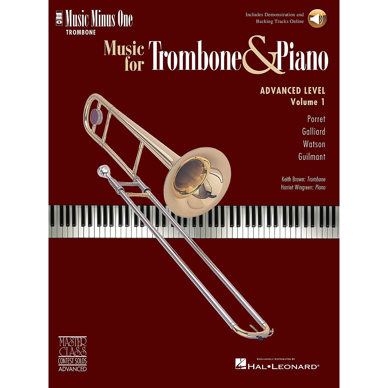 Music Minus One Advanced Trombone Solos, Volume 1 (for Trombone) Music Minus One Series Softcover with CD