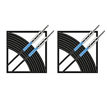 Livewire Advantage Instrument Cable Regular 10 ft. Black 2-Pack