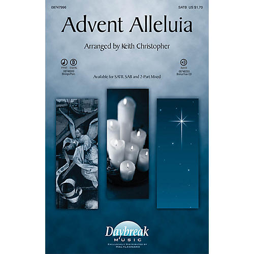 Daybreak Music Advent Alleluia PERCUSSION/STRINGS Arranged by Keith Christopher