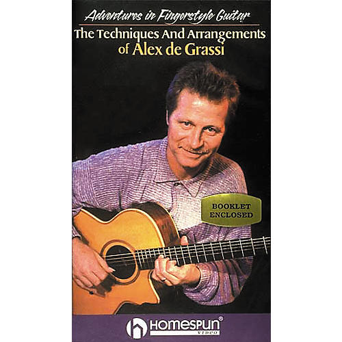 Homespun Adventures in Fingerstyle Guitar - Alex de Grassi (VHS)