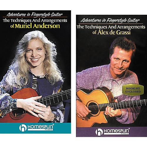 Homespun Adventures in Fingerstyle Guitar 2-Video Set (VHS)