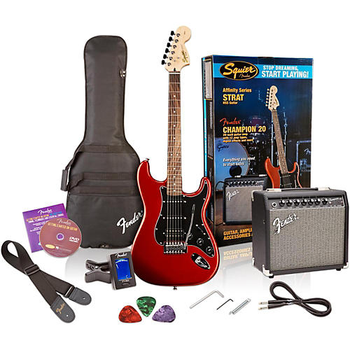 Squier Affinity Series Stratocaster HSS Electric Guitar Pack with Fender Champion 20W Guitar Combo Amp