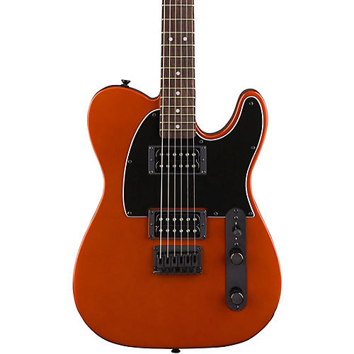 Squier Affinity Telecaster HH Electric Guitar with Matching Headstock Metallic Orange