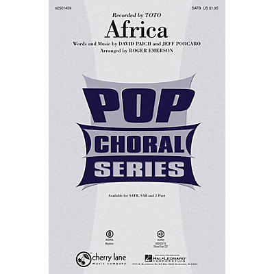 Cherry Lane Africa SAB by Toto Arranged by Roger Emerson