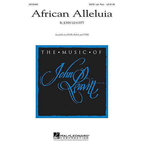 Hal Leonard African Alleluia SATB composed by John Leavitt