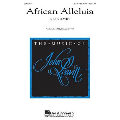 Hal Leonard African Alleluia SSAA Composed by John Leavitt