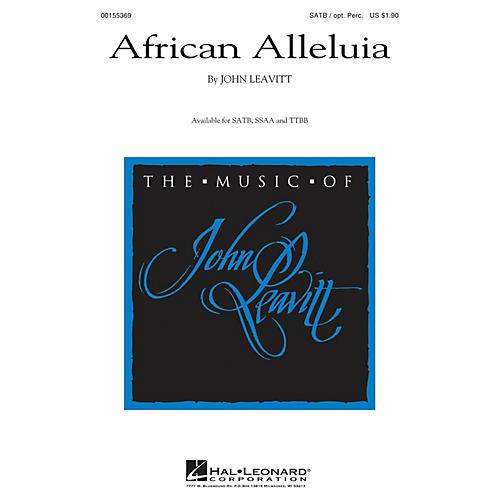 Hal Leonard African Alleluia TTBB Composed by John Leavitt
