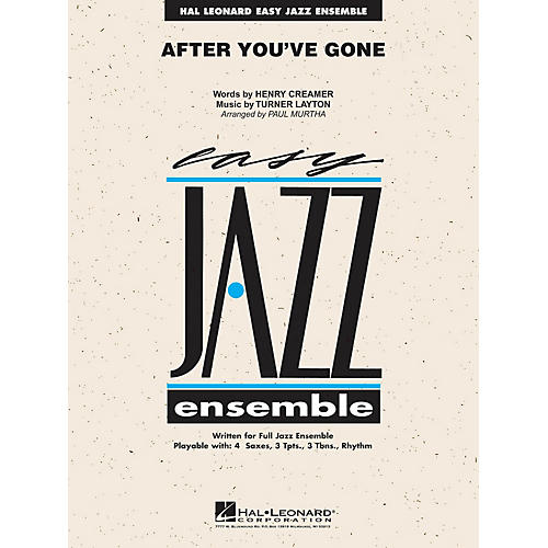 Hal Leonard After You've Gone Jazz Band Level 2 Arranged by Paul Murtha