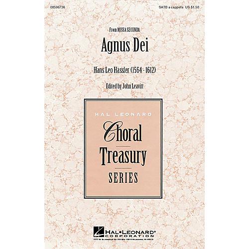 Hal Leonard Agnus Dei (from Missa Secunda) (SATB a cappella) SATB a cappella arranged by John Leavitt