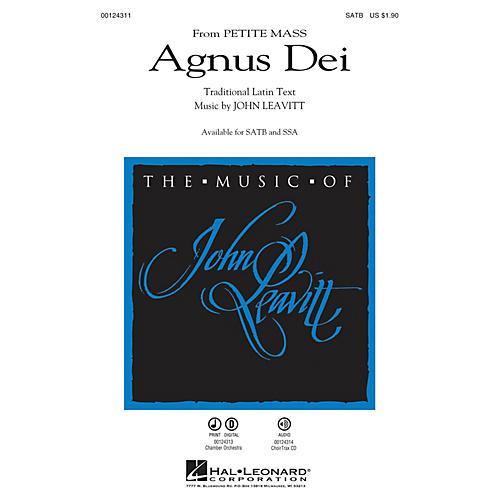Hal Leonard Agnus Dei (from Petite Mass) SATB composed by John Leavitt