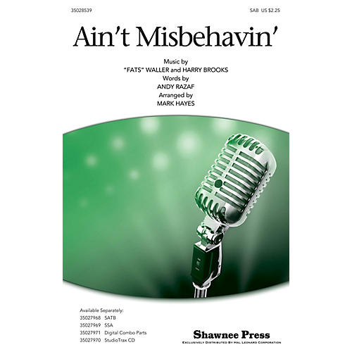 Shawnee Press Ain't Misbehavin' SAB by Thomas