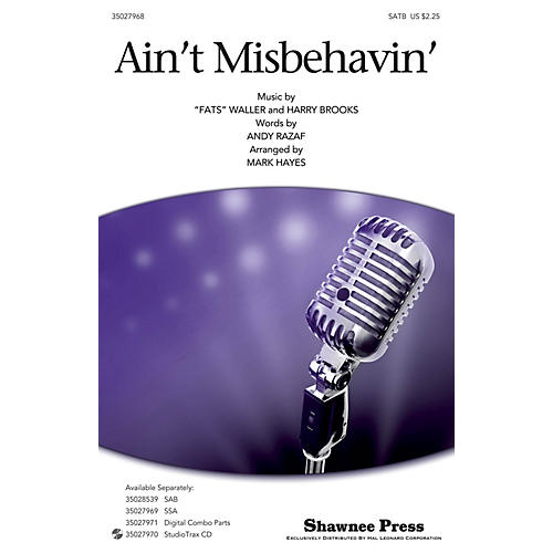Shawnee Press Ain't Misbehavin' SATB by Thomas